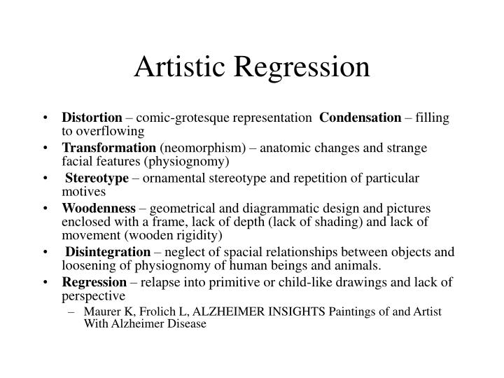 Artistic Regression