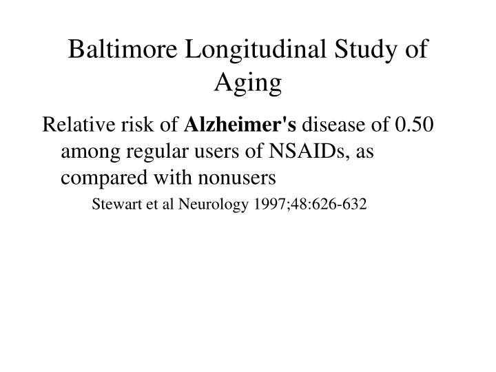 Baltimore Longitudinal Study of Aging