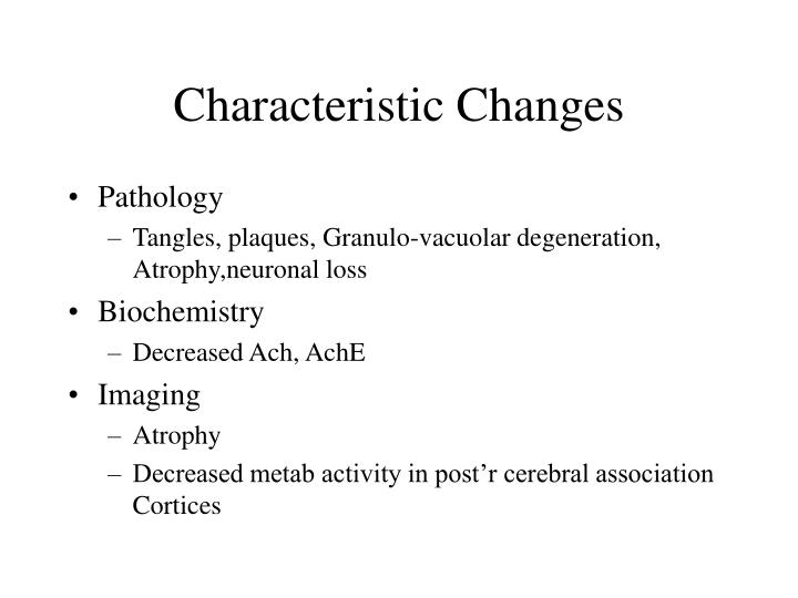 Characteristic Changes