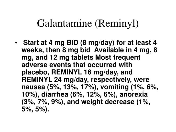 Galantamine (Reminyl)