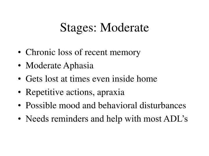 Stages: Moderate