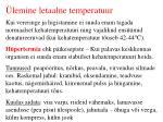 lemine letaalne temperatuur