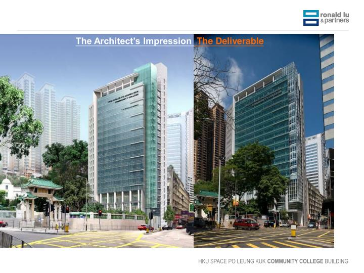 The Architect's Impression