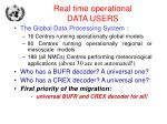 real time operational data users