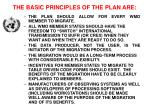 the basic principles of the plan are
