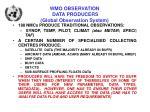 wmo observation data producers global observation system