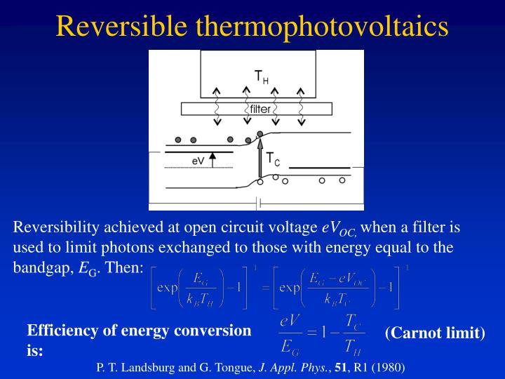 Reversible thermophotovoltaics