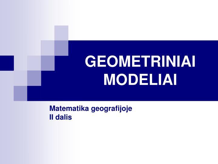 geometriniai modeliai n.