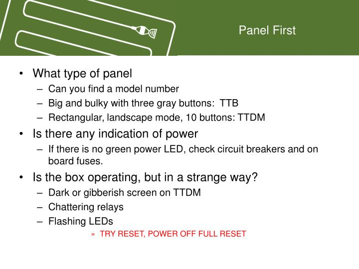 Panel first