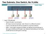 two subnets one switch no vlans1