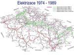 elektrizace 1974 19891
