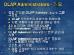 olap administrators