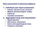 data assessment in pharmacovigilance