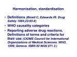 harmonisation standardisation