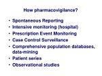 how pharmacovigilance