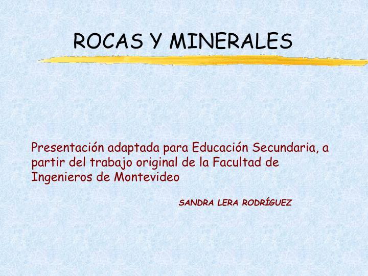 rocas y minerales n.