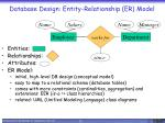 database design entity relationship er model
