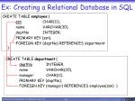 ex creating a relational database in sql
