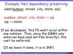 example not dependency preserving