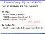 example query sql vs datalog