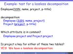 example test for a lossless decomposition2