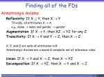 finding all of the fds