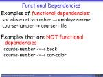 functional dependencies1
