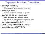 important relational operations