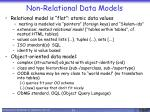 non relational data models