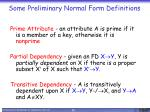 some preliminary normal form definitions