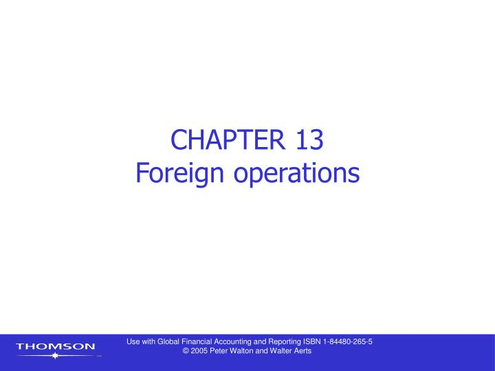 chapter 13 foreign operations n.