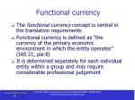 functional currency