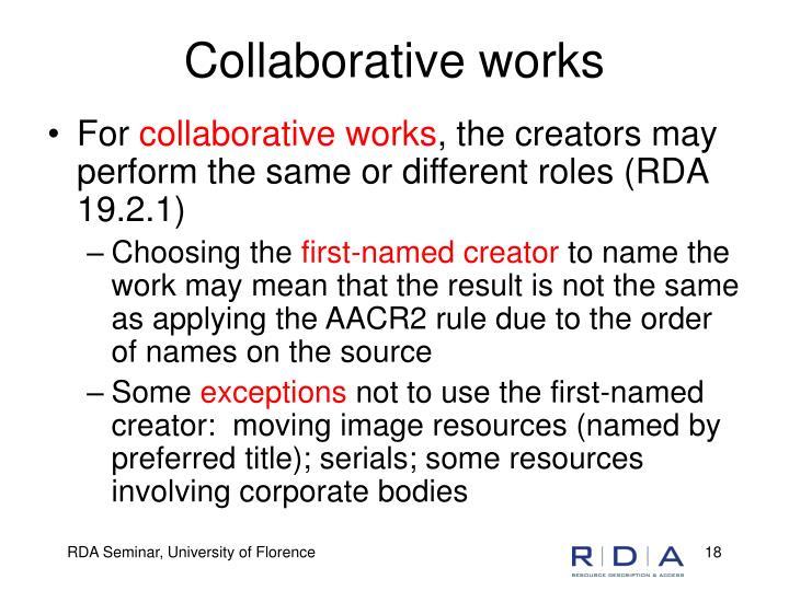 Collaborative works