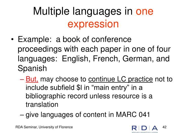 Multiple languages in