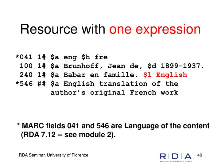 Resource with