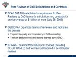 peer reviews of dod solicitations and contracts