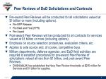 peer reviews of dod solicitations and contracts1