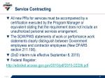 service contracting