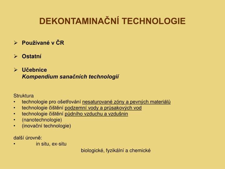 dekontamina n technologie n.