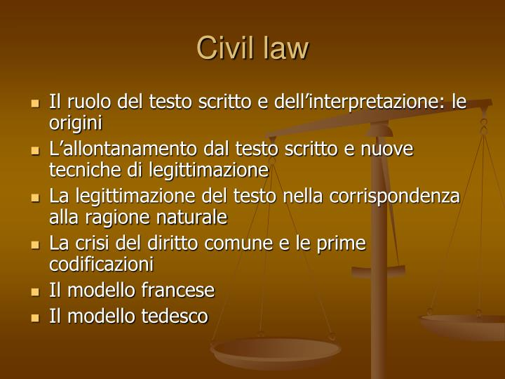 civil law n.