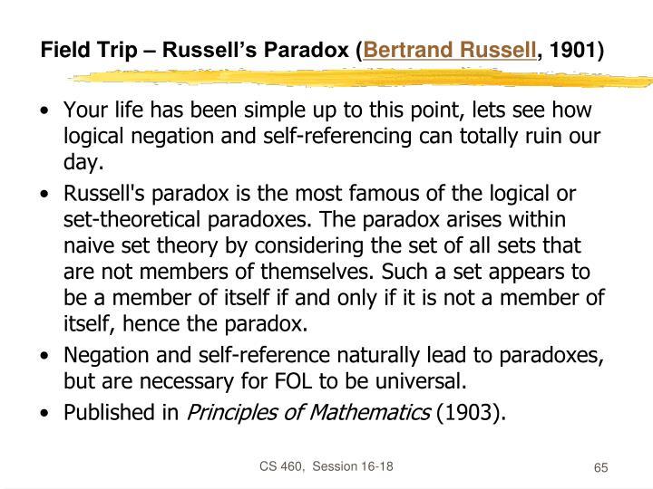 Field Trip – Russell's Paradox (