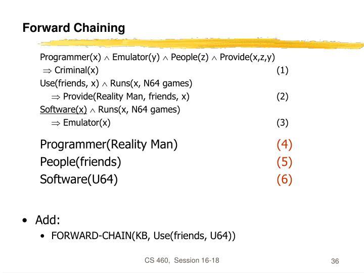 Forward Chaining
