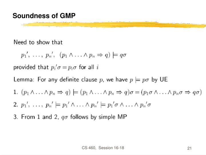 Soundness of GMP