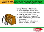 youth volunteer management