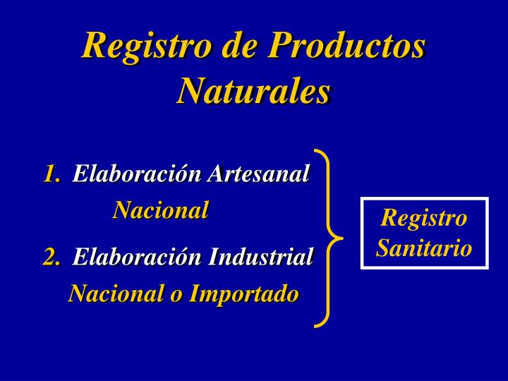 Registro de Productos Naturales