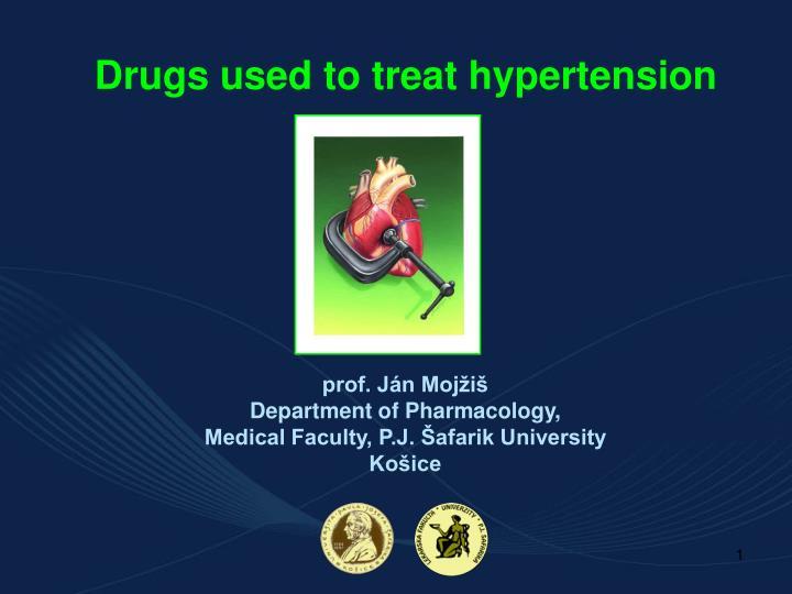 drugs used to treat hypertension n.