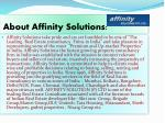 about affinity solutions