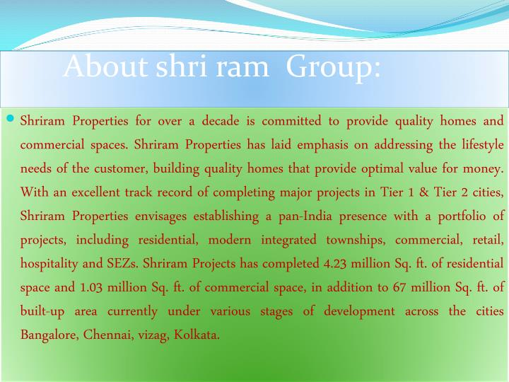 About shri ram group