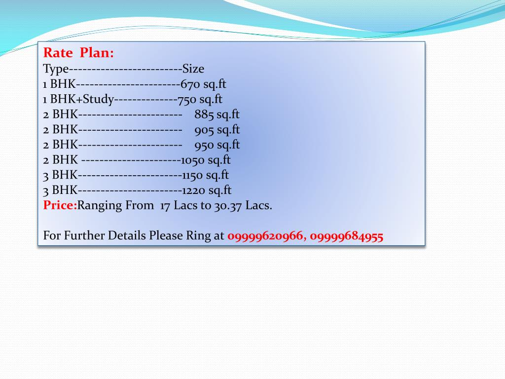 Rate  Plan: