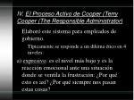 iv el proceso activo de cooper terry cooper the responsible administrator